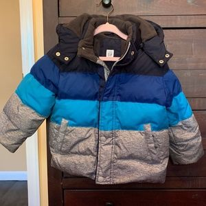 GAP Boys Down Winter Jacket with Removable Hood 3T